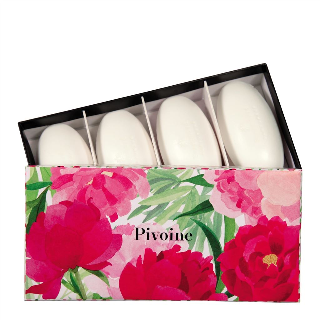 SET OF 4 PEONY GUEST SOAPS (4 X 50G)