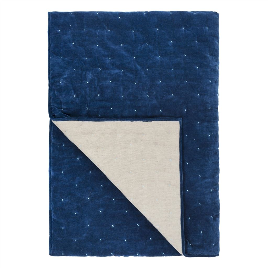 Sevanti Indigo Quilted Throw 230x230cm