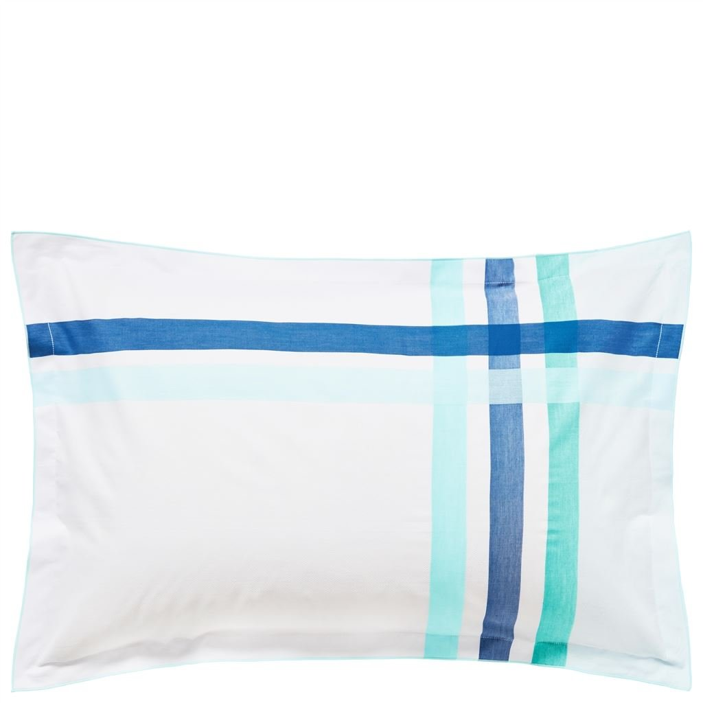 MONTGOMERY AZURE OXFORD PILLOWCASE 75X50CM