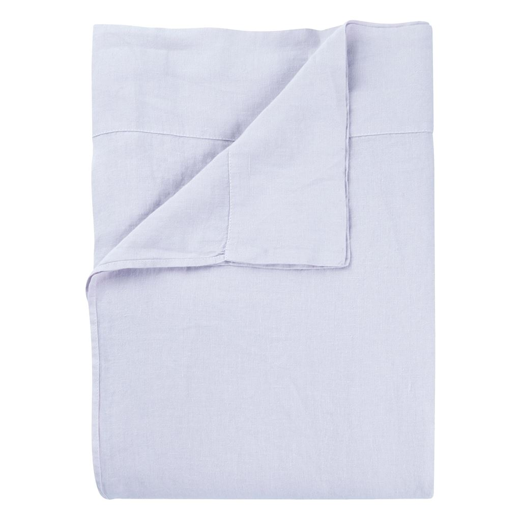 Biella - Summer Blue / Pale Thistle - Double - Fitted Sheet - 135X190CM