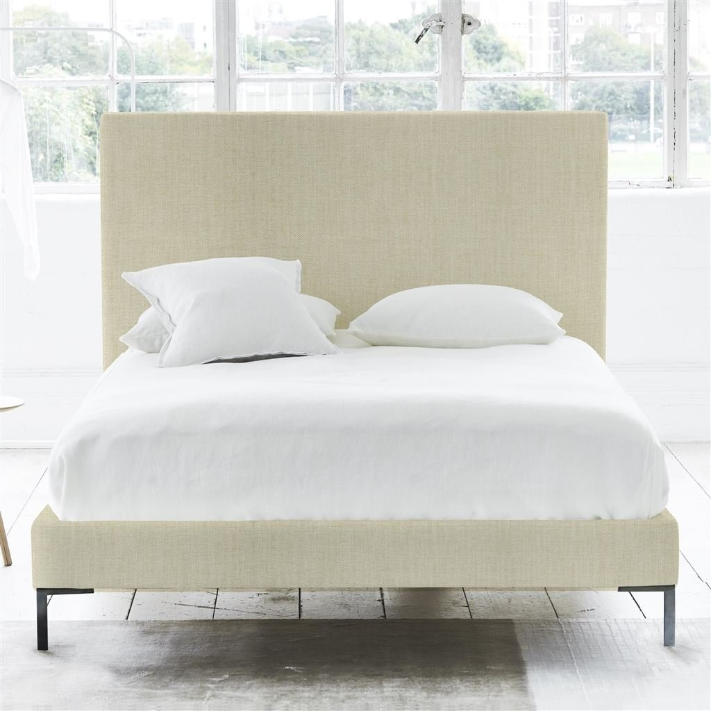Square Bed - Double - Metal Leg - Elrick Natural