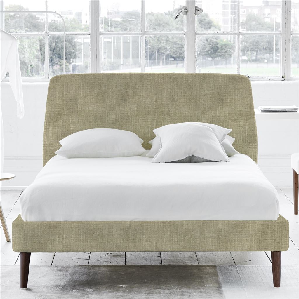 COSMO BED-SELF BUTTONS - SINGLE - WALNUT LEG - ELRICK HESSIAN
