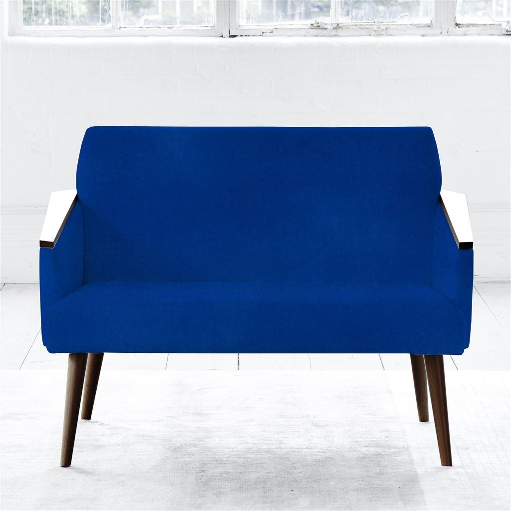 Ray 2 Seater - Walnut Leg - Cassia Cobalt