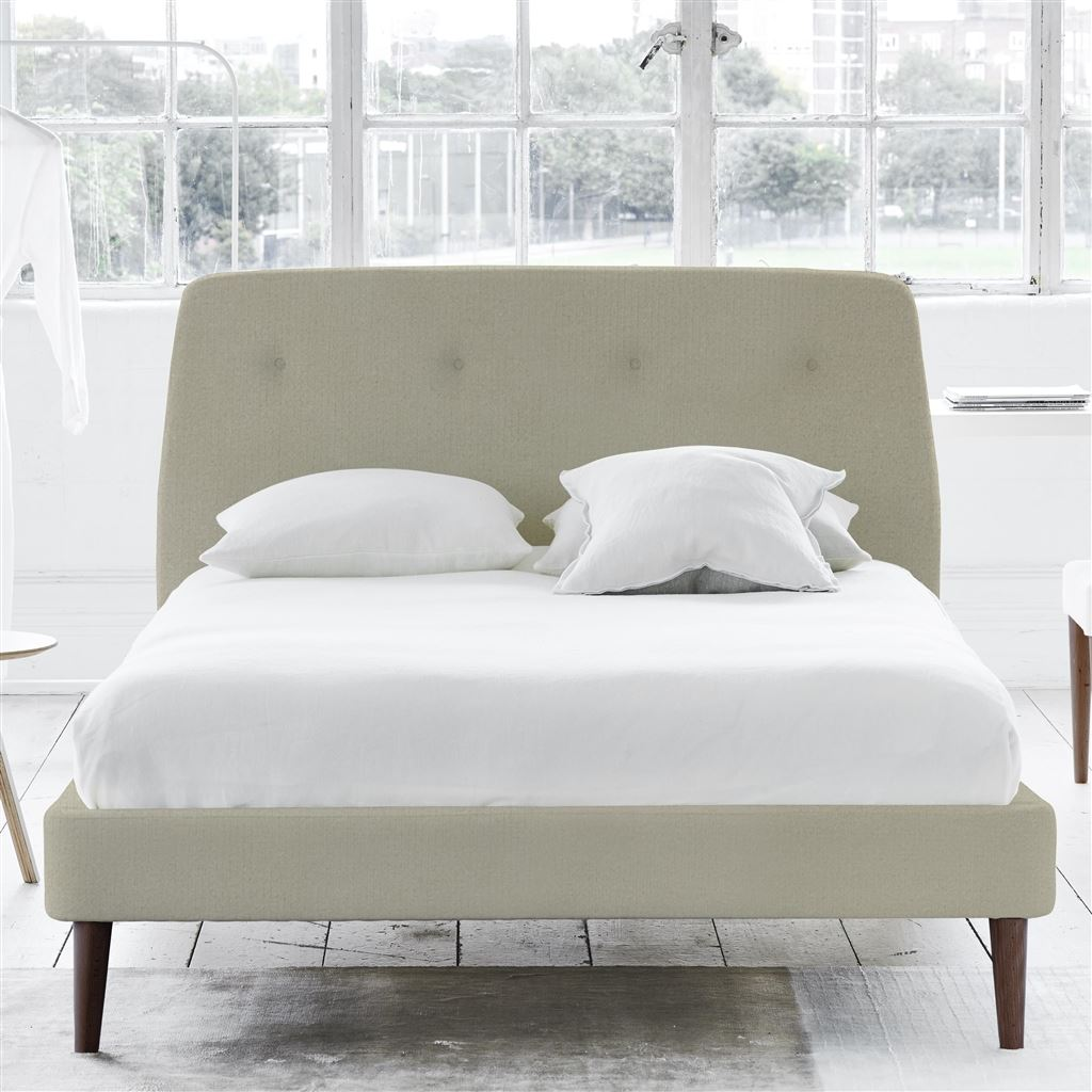 COSMO BED-SELF BUTTONS - SUPERKING - WALNUT LEG - CASSIA DOVE