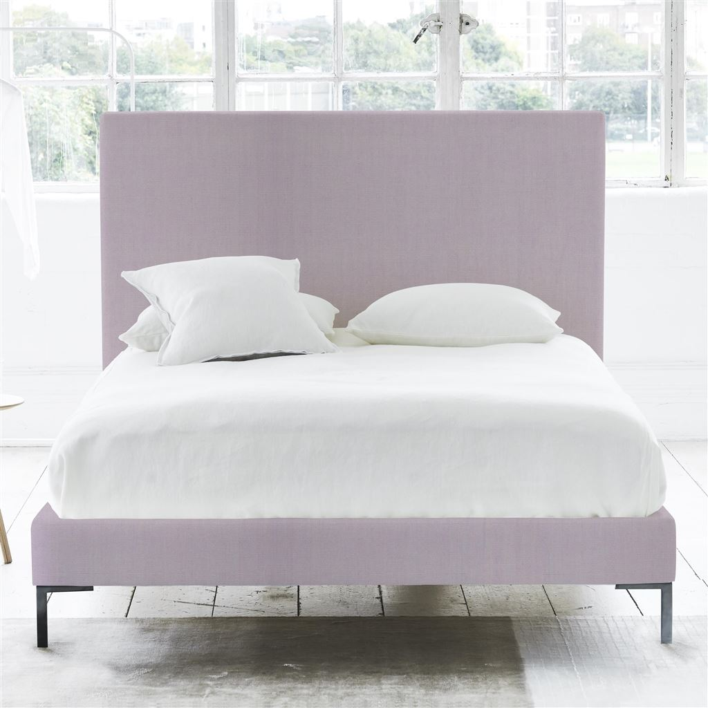 SQUARE BED - DOUBLE - METAL LEG - BRERA LINO PALE ROSE