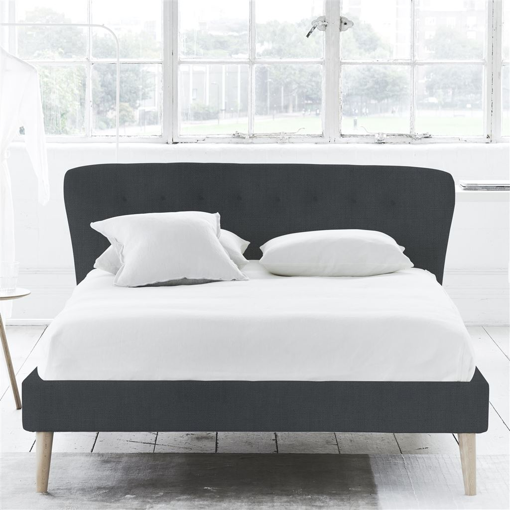 WAVE BED SELF BUTTONS - SUPERKING - BEECH LEG - BRERA LINO DUSK
