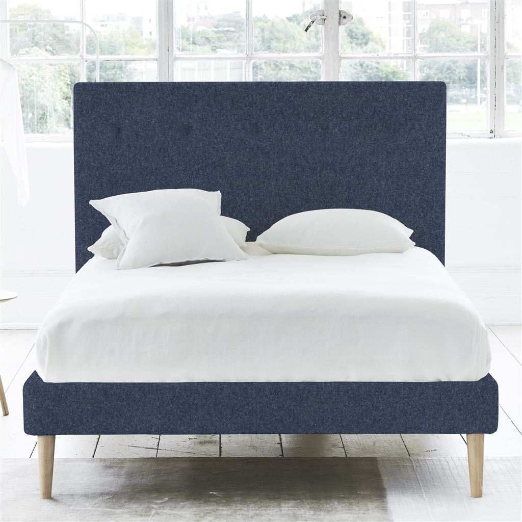 POLKA BED SELF BUTTONS - DOUBLE - BEECH LEG - CHEVIOT INDIGO