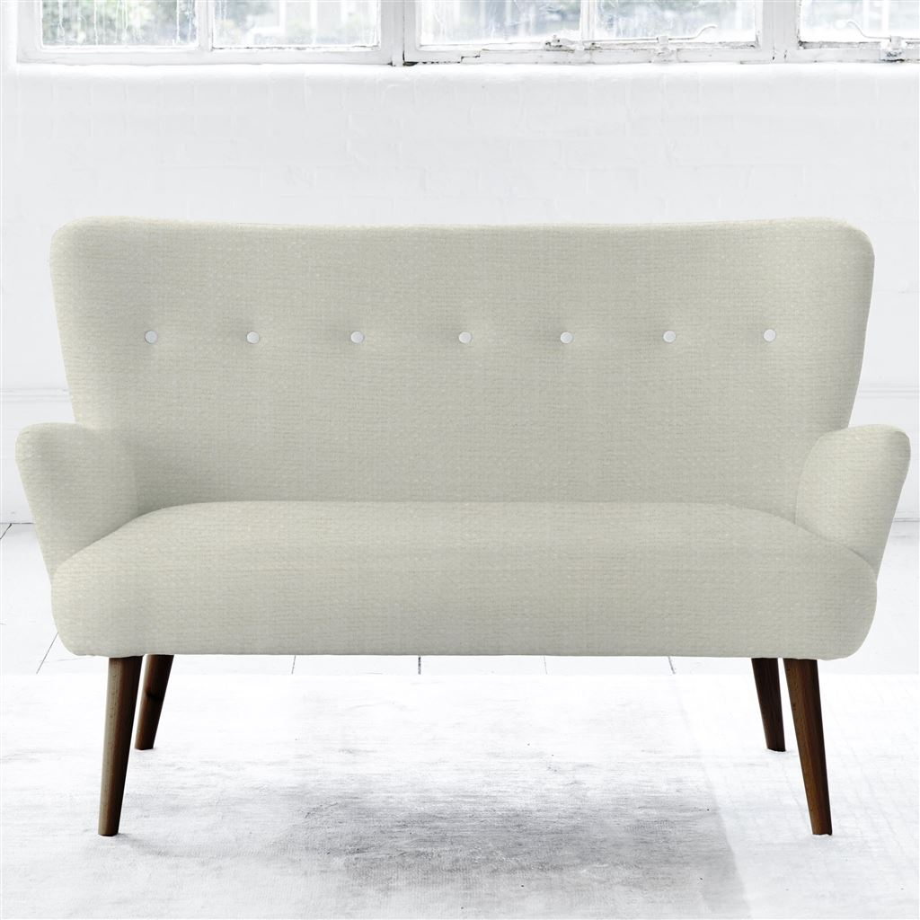 FLORENCE 2 SEATER - WHITE BUTTONS - WALNUT LEG - ELRICK ALABASTER