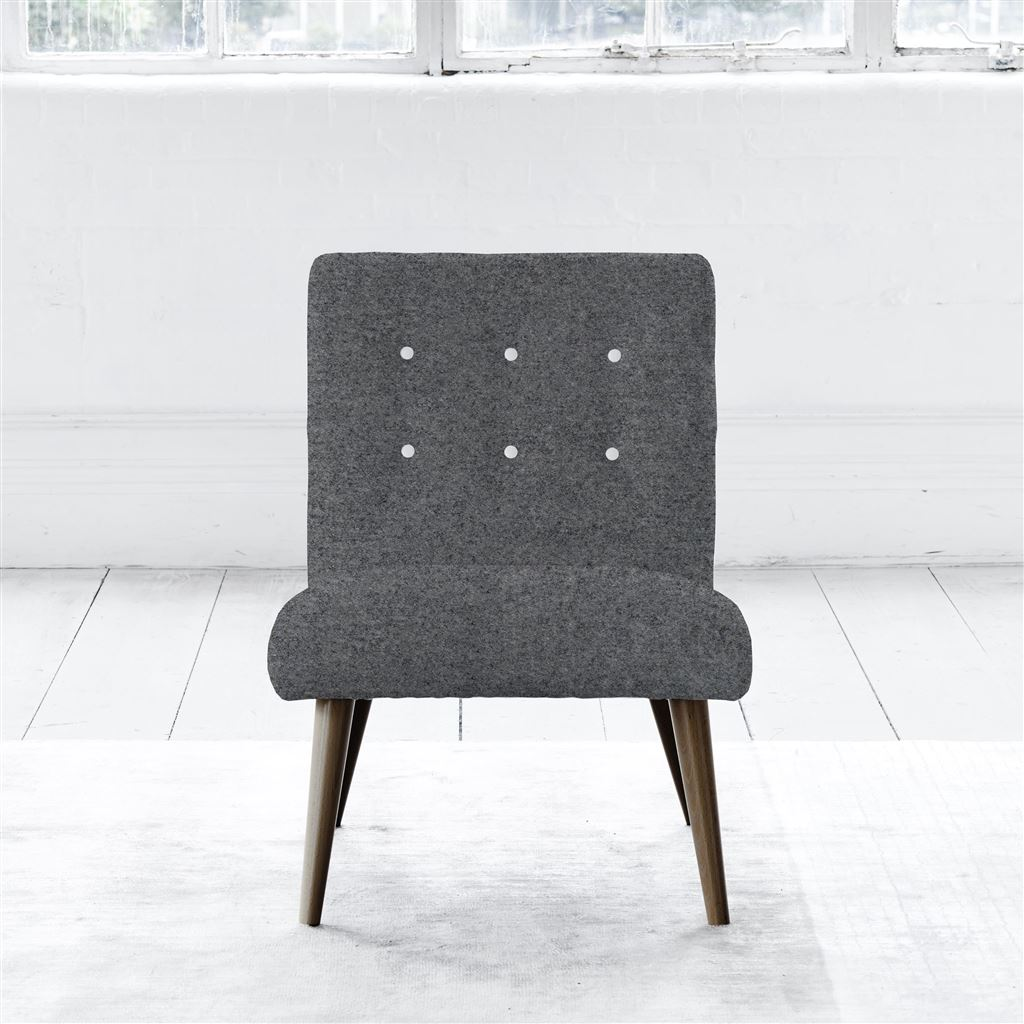 EVA CHAIR - WHITE BUTTONS - WALNUT LEG - CHEVIOT SMOKE