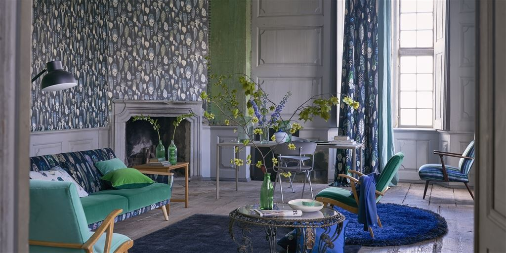 Designers Guild - Gray and yellow living rooms ideas