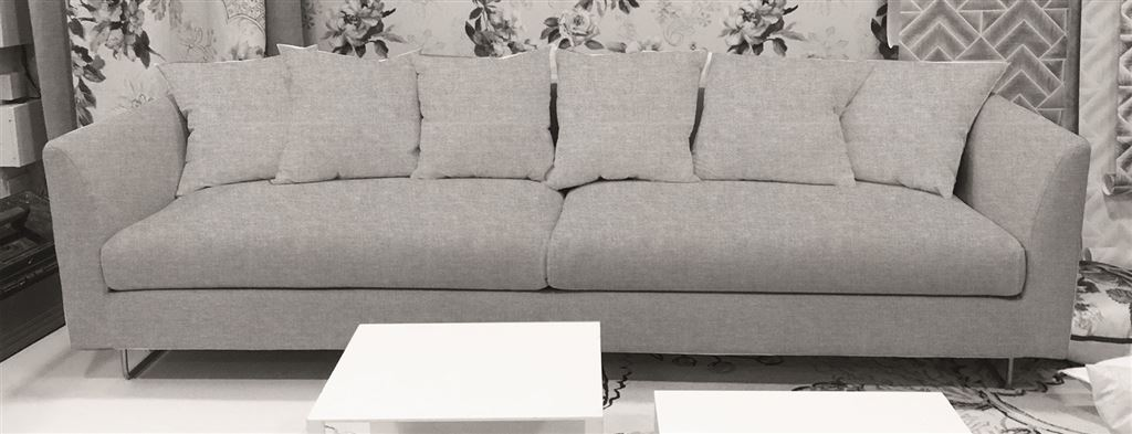 Sleek Sofa With Square Cushions | Designers Guild