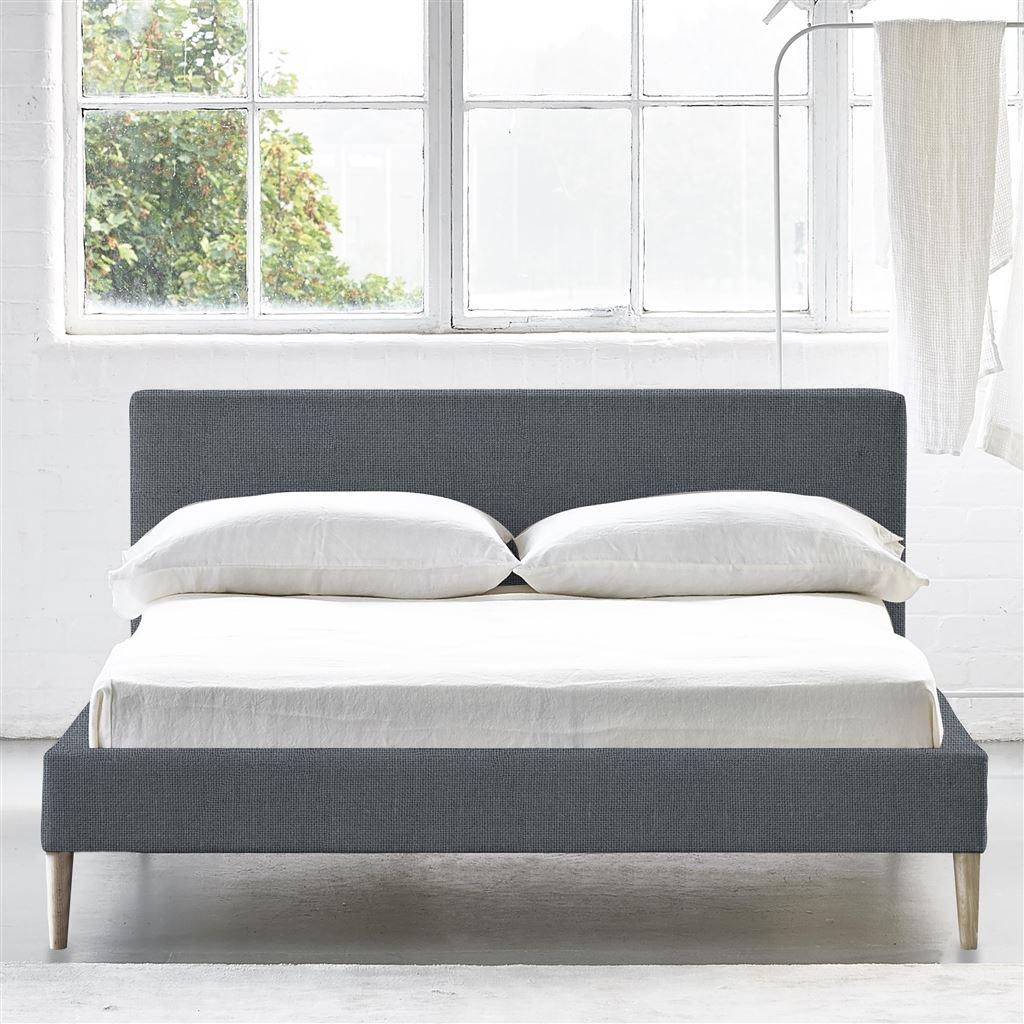 SQUARE BED LOW - SINGLE - BEECH LEG CONWAY - GUNMETAL