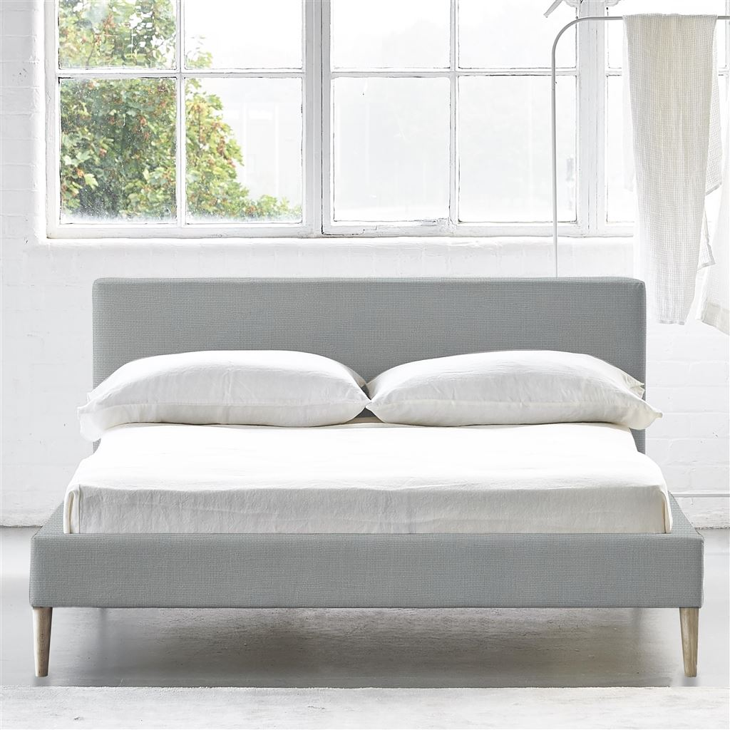 SQUARE BED LOW - SINGLE - BEECH LEG CONWAY - PLATINUM