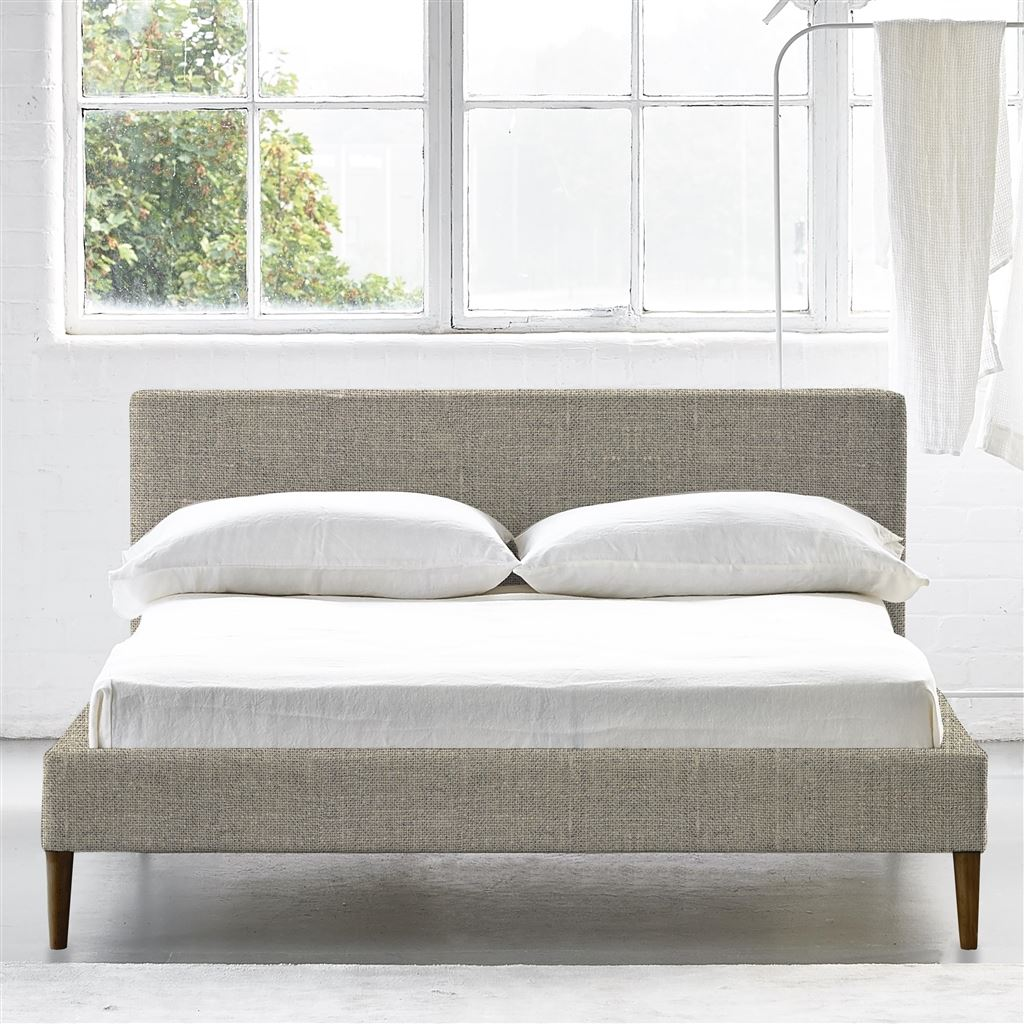 SQUARE BED LOW - SINGLE - WALNUT LEG CONWAY - NATURAL