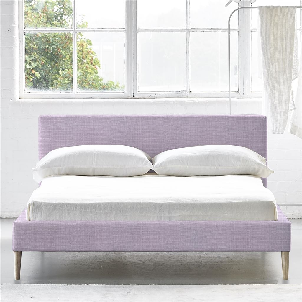 SQUARE BED LOW - SINGLE - BEECH LEG CONWAY - ORCHID