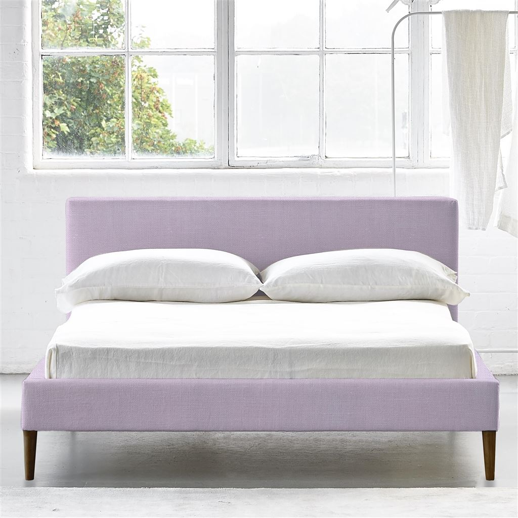 SQUARE BED LOW - SINGLE - WALNUT LEG CONWAY - ORCHID