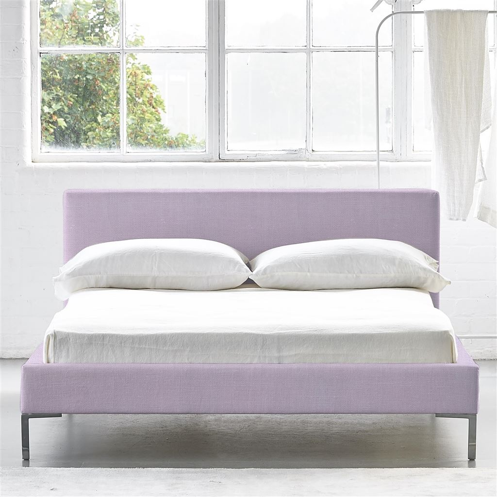 SQUARE BED LOW - SINGLE - METAL LEG CONWAY - ORCHID