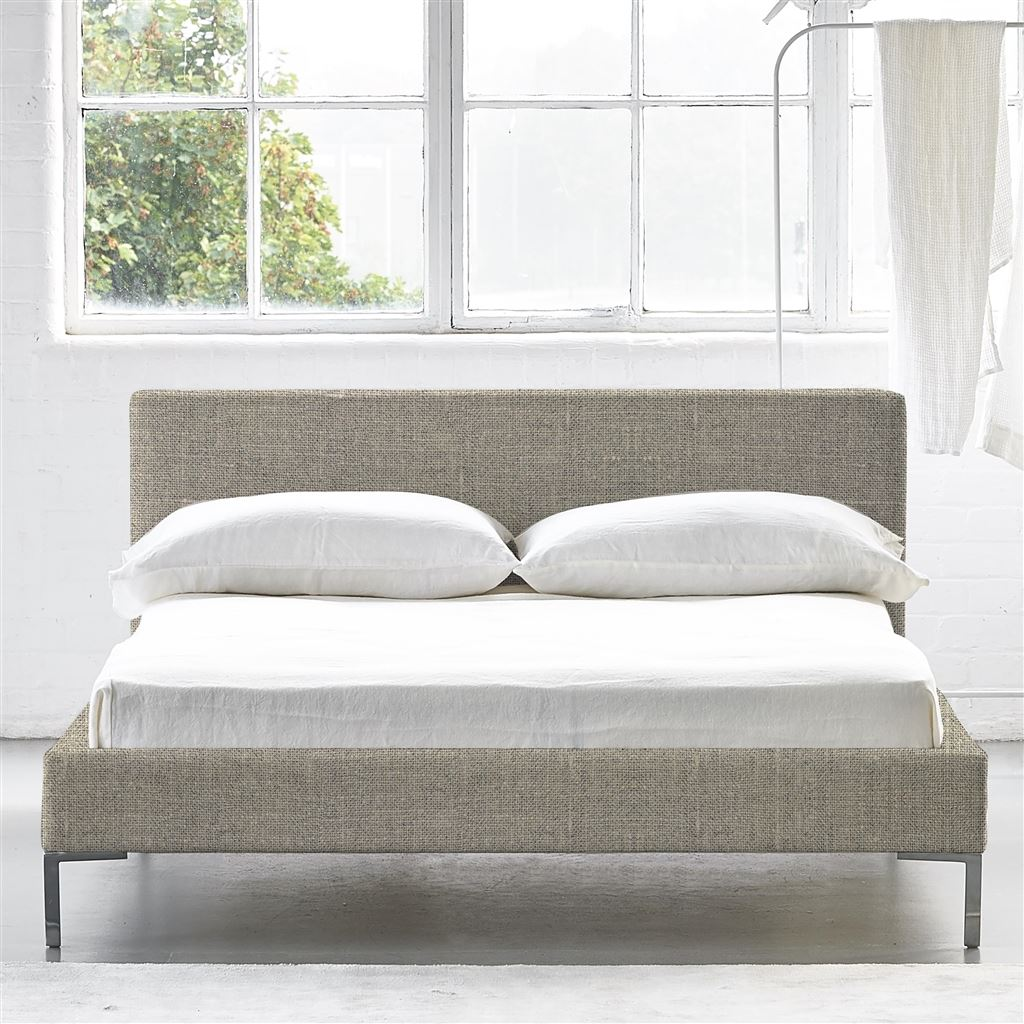 SQUARE BED LOW - KING - METAL LEG CONWAY - NATURAL