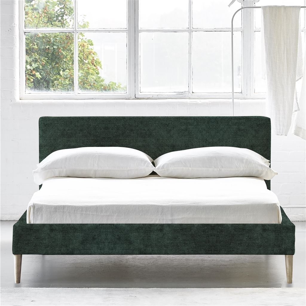 SQUARE BED LOW - KING - BEECH LEG ZARAGOZA - VIRIDIAN