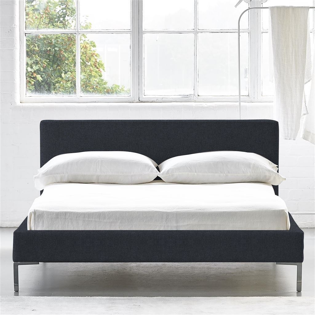 SQUARE BED LOW - SUPER KING - METAL LEG ROTHESAY - INDIGO