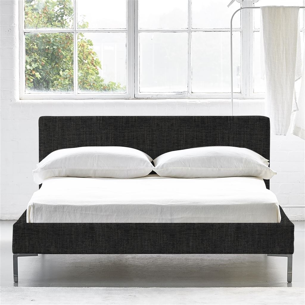 Square Bed Low - Double - Metal Leg - Elrick Granite