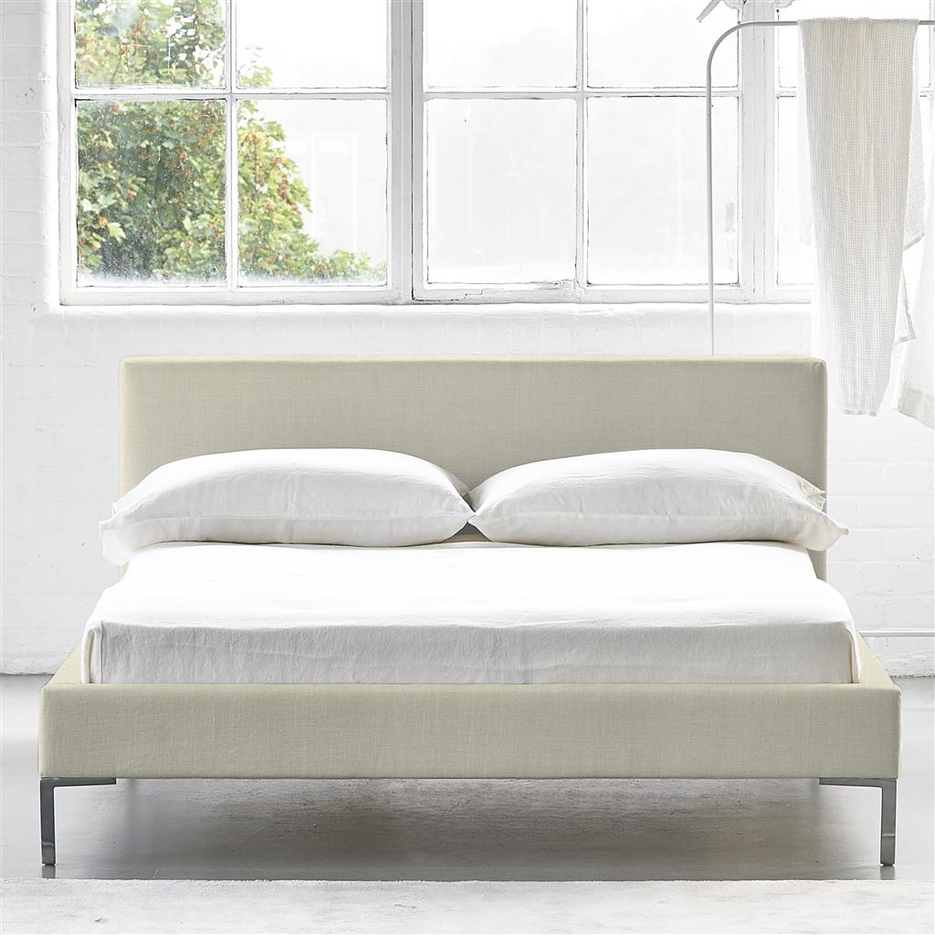 Square Bed Low - Superking - Metal Leg - Elrick Chalk