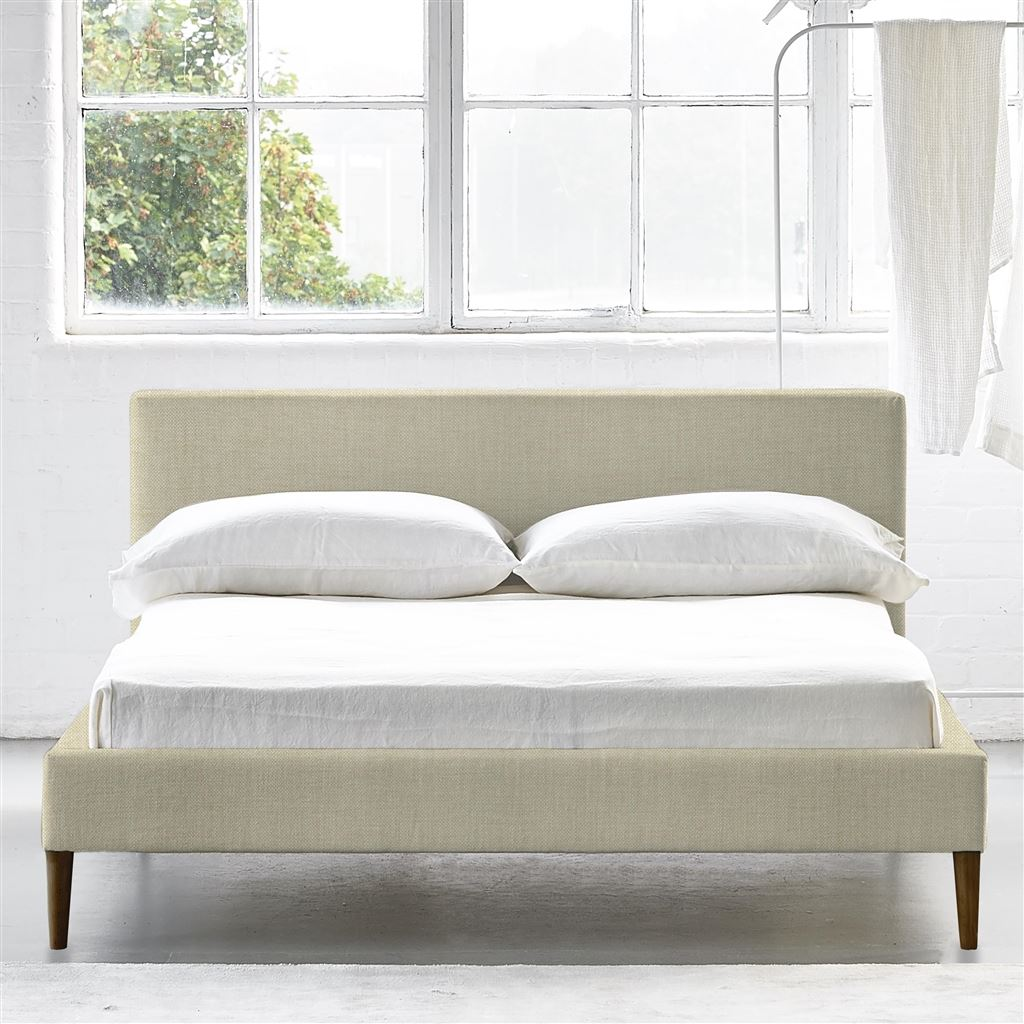 Square Bed Low - King - Walnut Leg - Elrick Natural