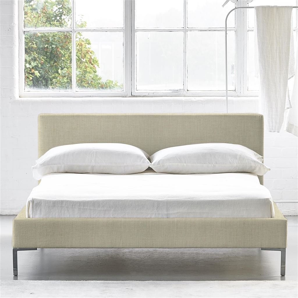 Square Bed Low - Double - Metal Leg - Elrick Natural