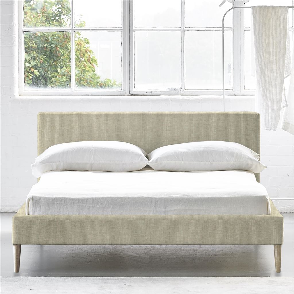Square Bed Low - King - Beech Leg - Elrick Natural