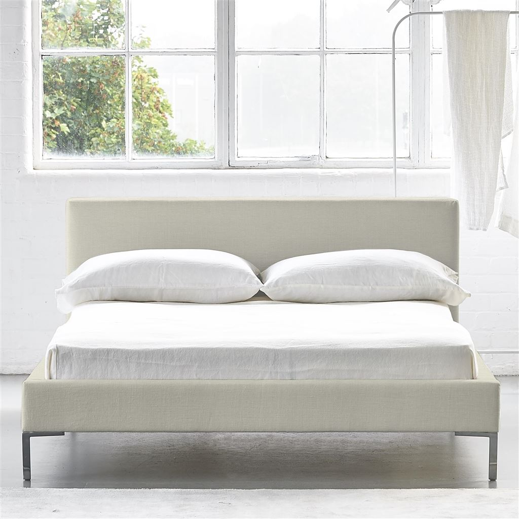 SQUARE LOW BED - DOUBLE - METAL LEGS - ELRICK ALABASTER