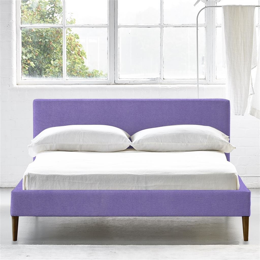 SQUARE BED LOW - KING - WALNUT LEG - CASSIA DAHILA