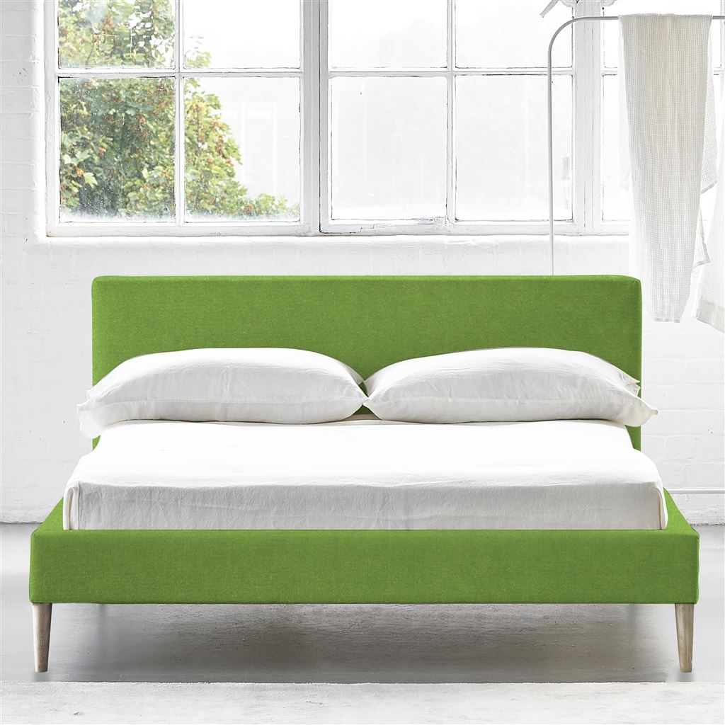 Square Bed Low - King - Beech Leg - Cassia Grass