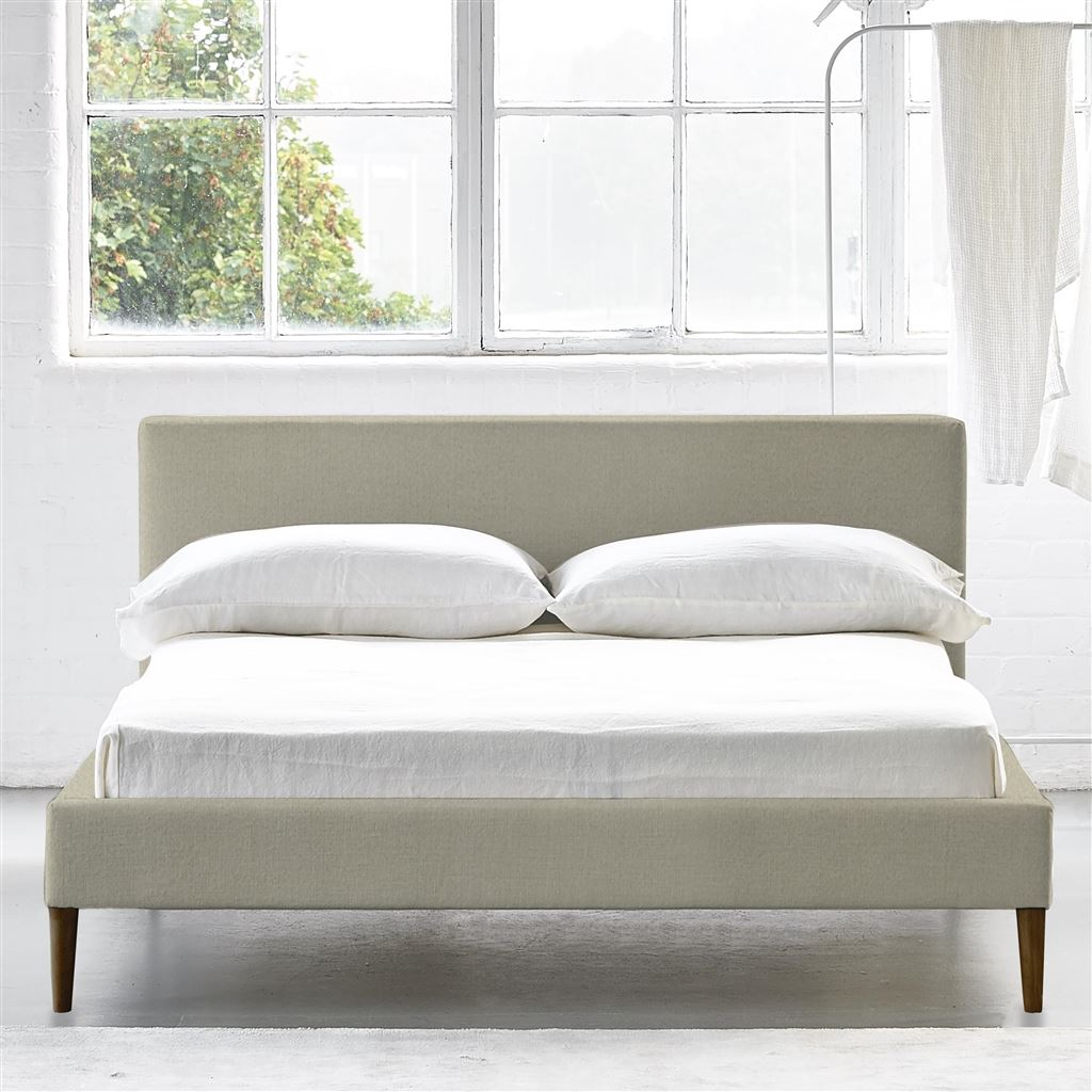 Square Bed Low - King - Walnut Leg - Cassia Dove