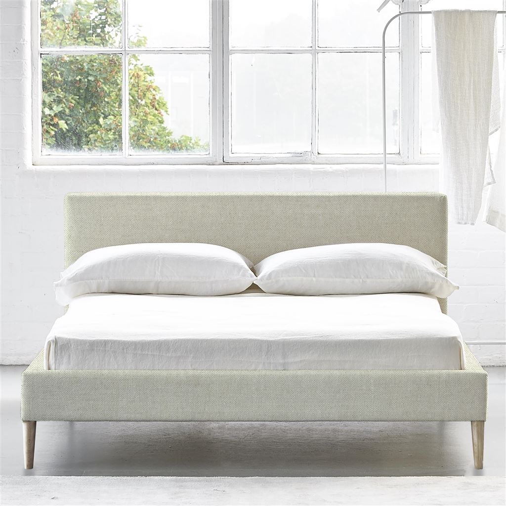 Square Bed Low - Double - Beech Leg - Brera Lino Natural