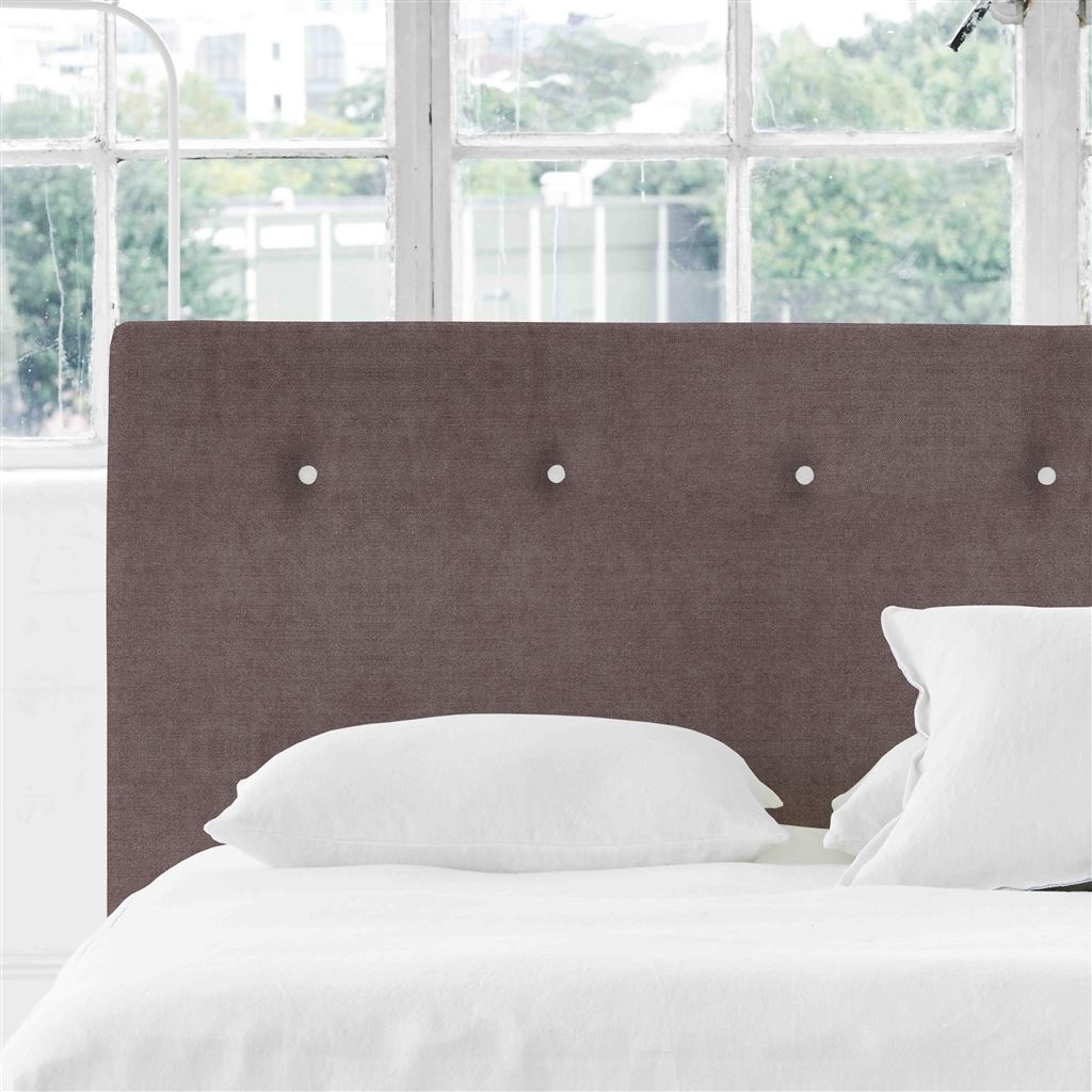 Polka King Headboard - White Buttons Zaragoza - Clover