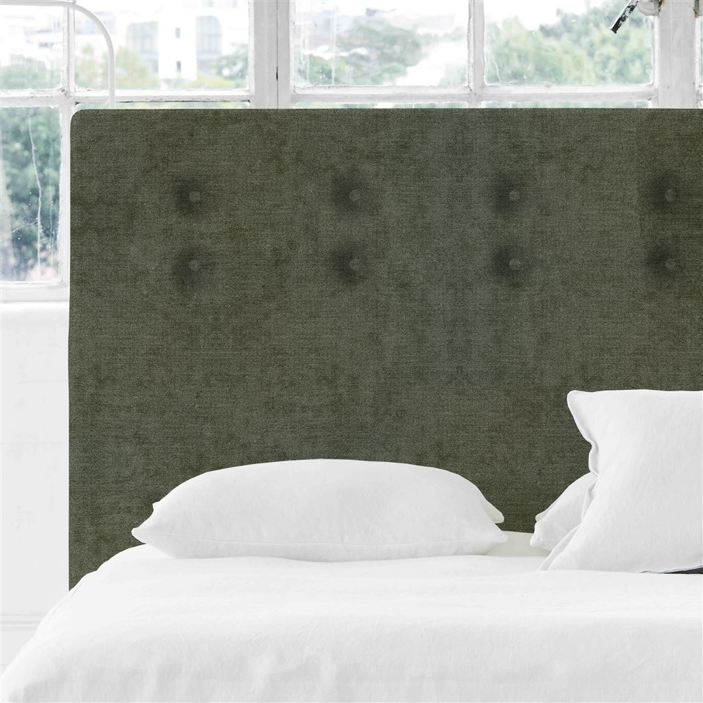 Polka Alto Single Headboard - Self Buttons Zaragoza - Fern