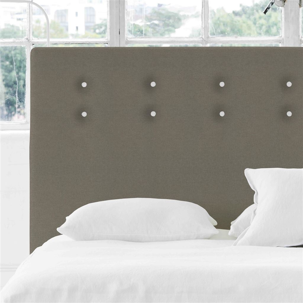 Polka Alto Double Headboard - White Buttons Rothesay - Pumice