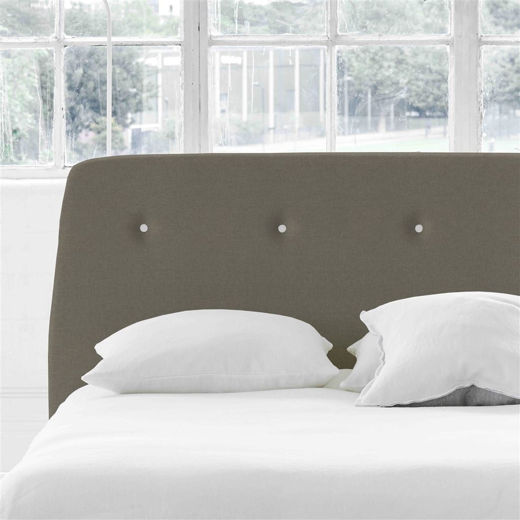 Cosmo Double Headboard - White Buttons - Rothesay - Pumice