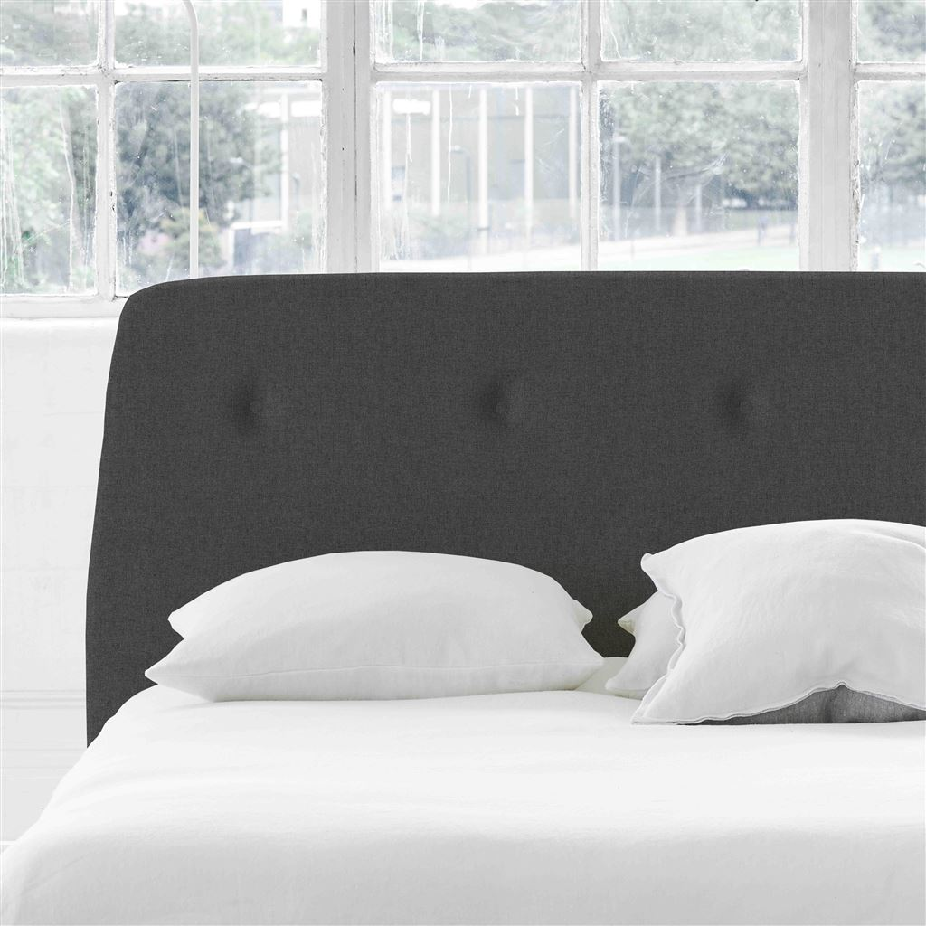 Cosmo Super King Headboard - Self Buttons - Rothesay - Smoke