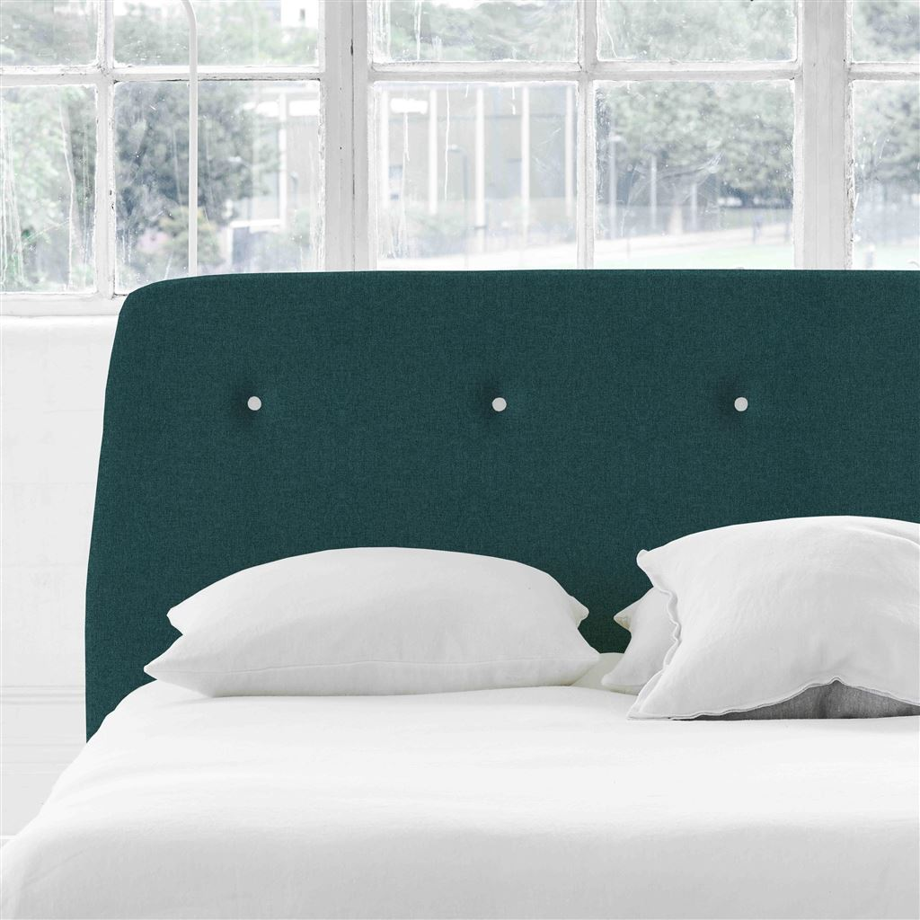 Cosmo Super King Headboard - White Buttons - Rothesay - Azure