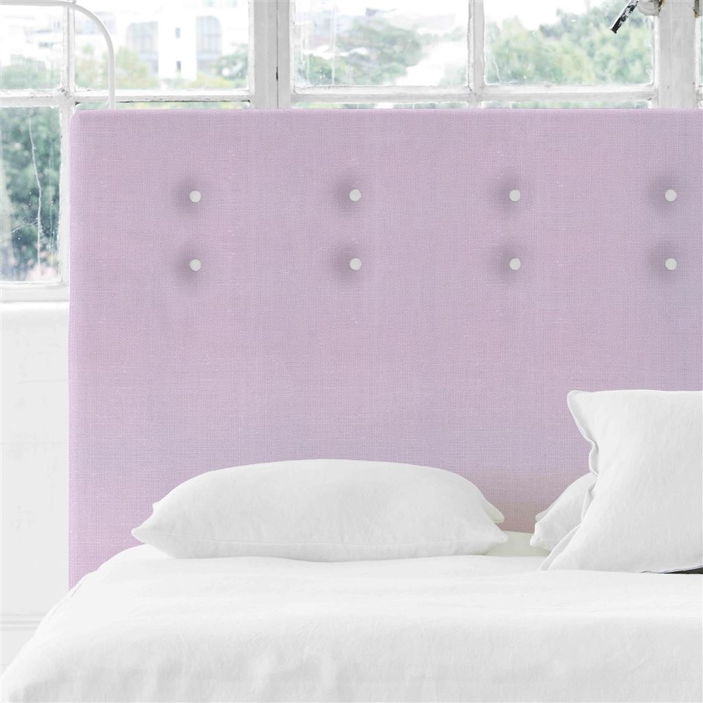 Polka Alto King Headboard - White Buttons Conway - Orchid