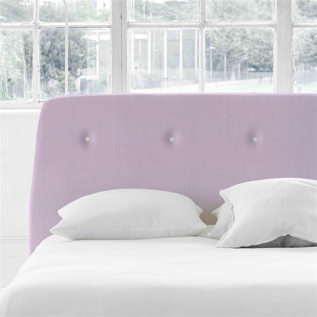Cosmo Double Headboard - White Buttons - Conway - Orchid