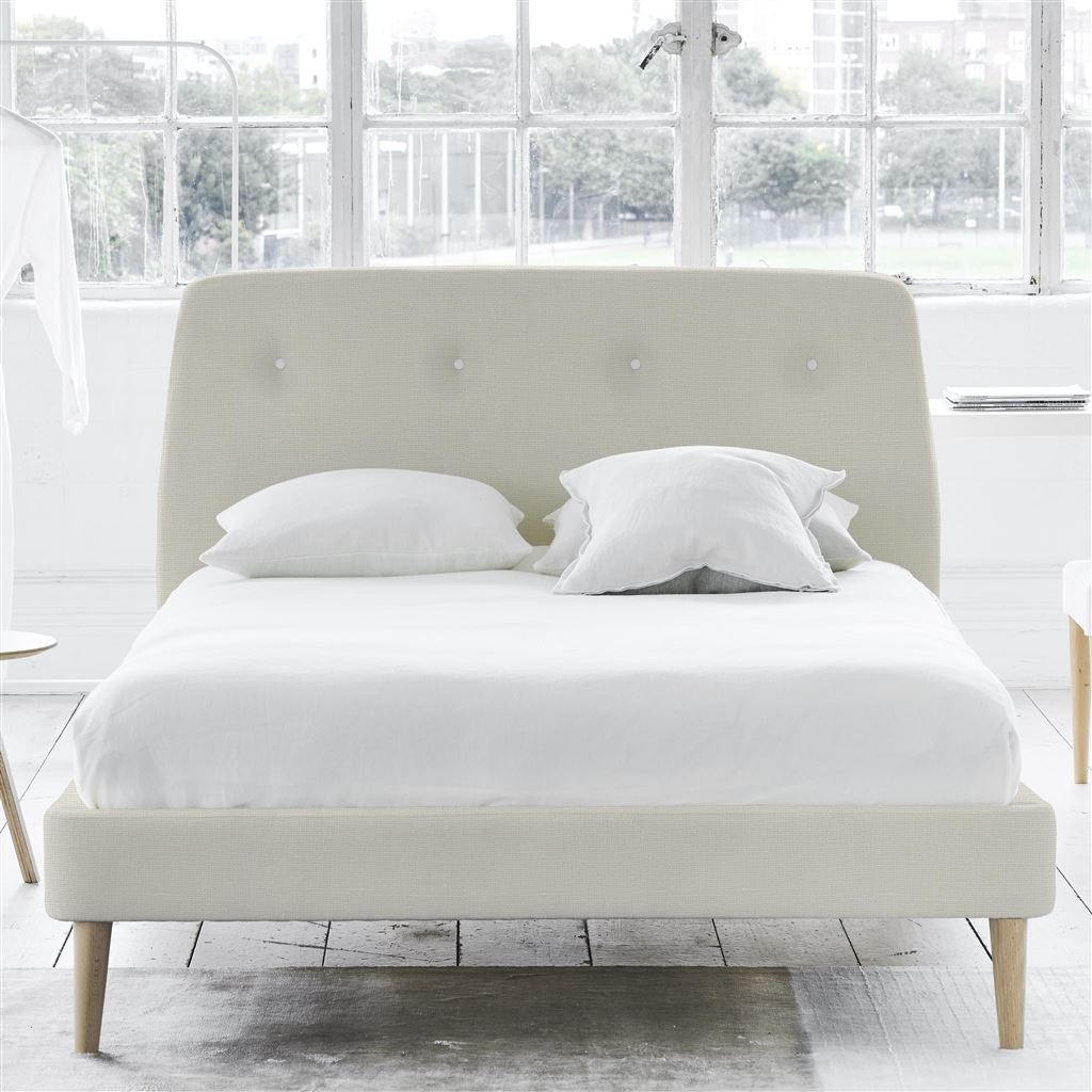 Cosmo Bed White Button - Super King - Beech Leg Conway - Ivory
