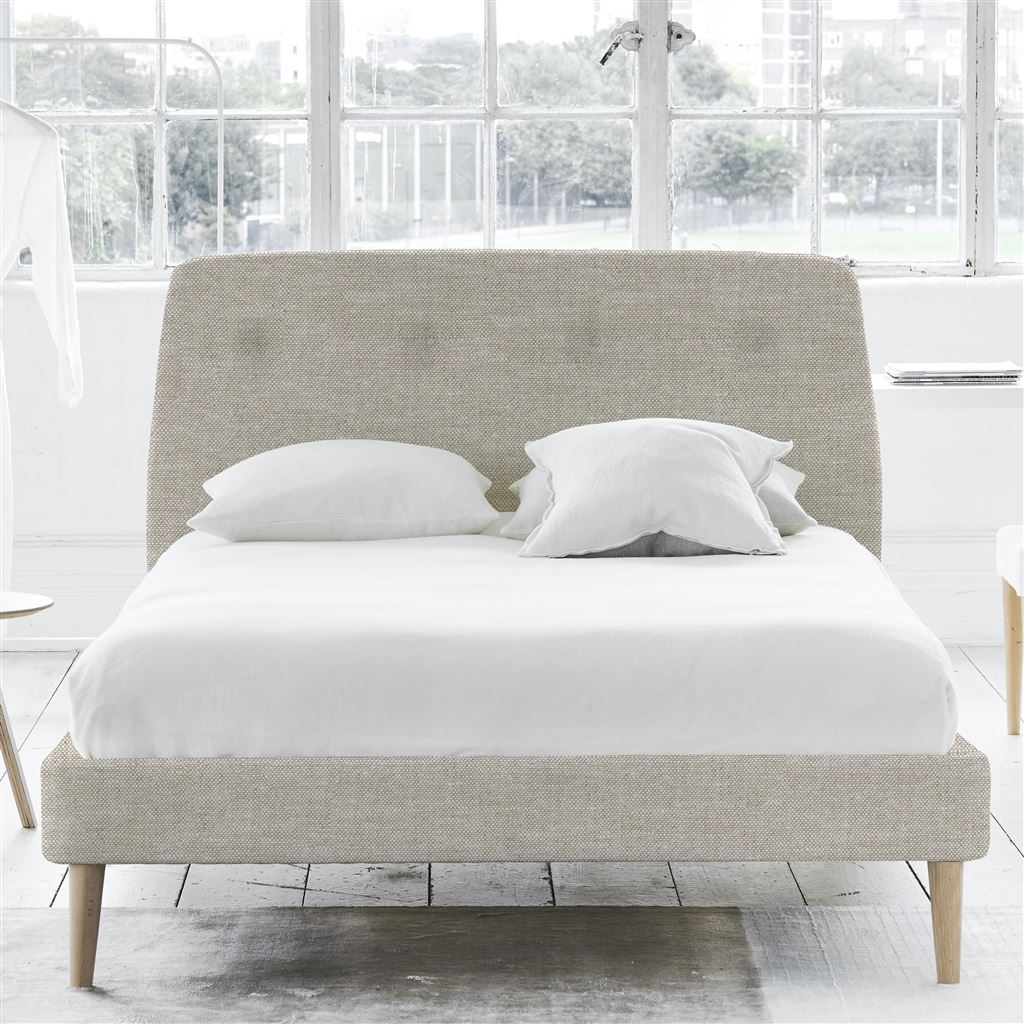 Cosmo Bed Self Button - Super King - Beech Leg Conway - Linen