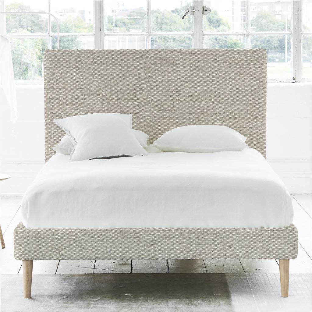 SQUARE BED - KING - BEECH LEG CONWAY - LINEN