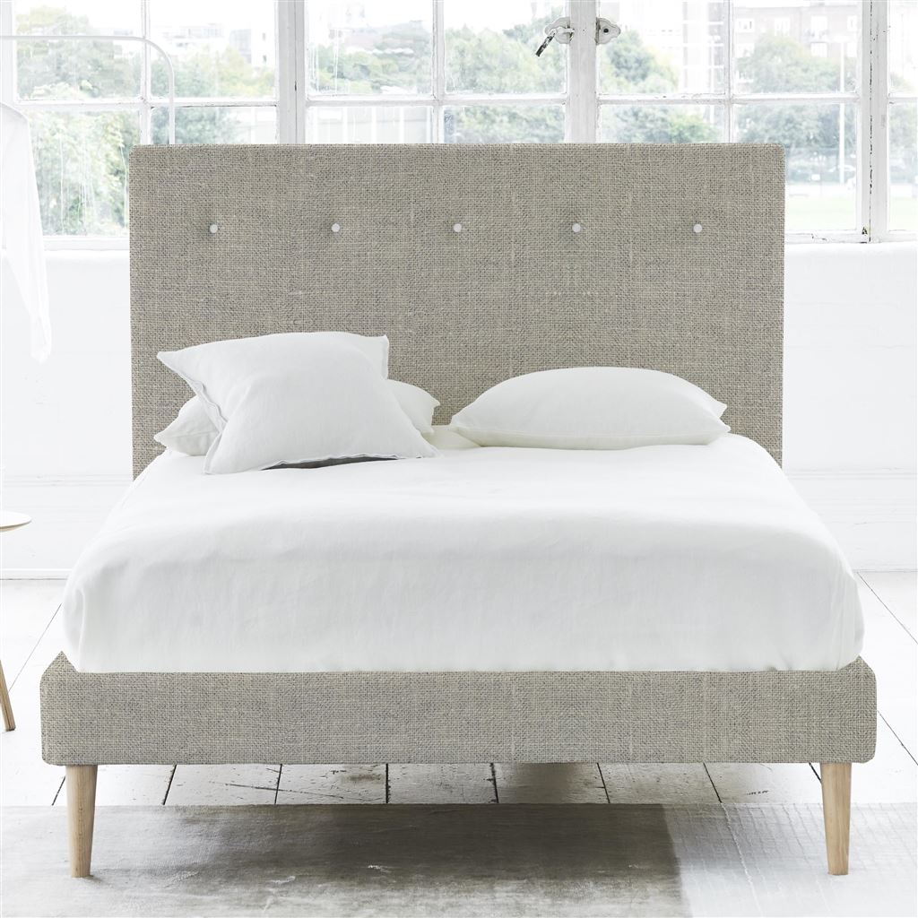 Polka Bed White Button - Single - Beech Leg Conway - Natural