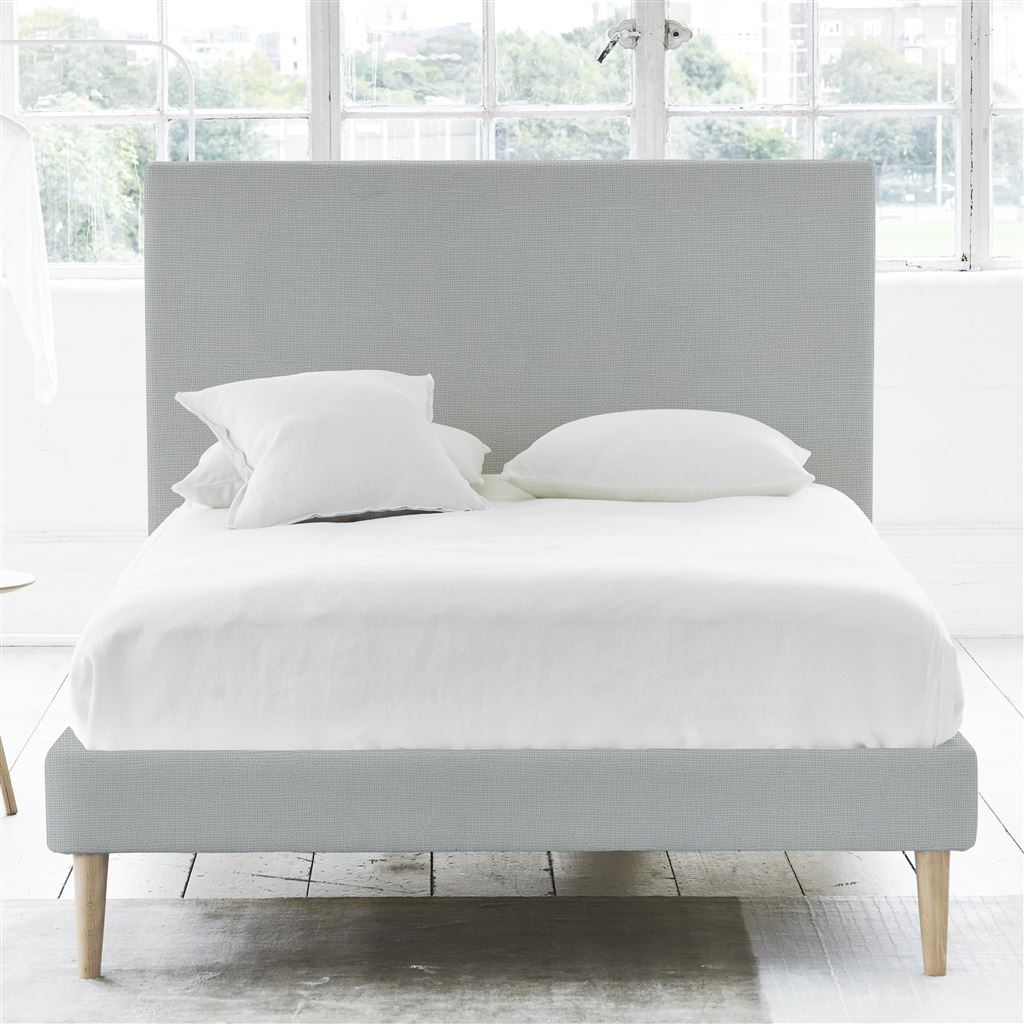 Square Bed - King - Beech Leg Conway - Platinum