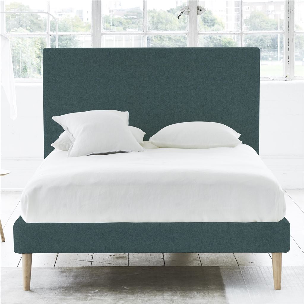 SQUARE BED - DOUBLE - BEECH LEG ROTHESAY - AZURE