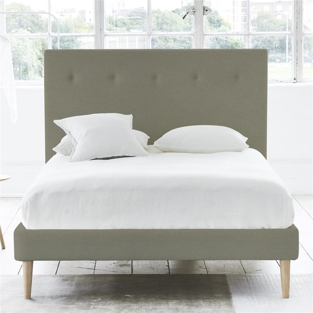 POLKA BED SELF BUTTON - SINGLE - BEECH LEG ROTHESAY - LINEN