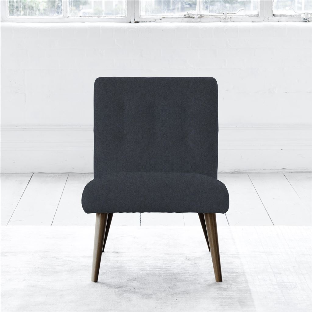 Eva Chair - Walnut Leg - Self Buttons - Rothesay - Indigo